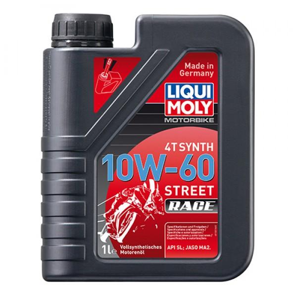 Масло для 4-т двигунів - Motorbike 4T Synth 10W-60 Street Race 1 л. 1