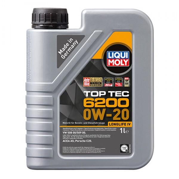 Синтетичне моторне масло - Liqui Moly Top Tec 6200 0W-20 1 л. (20787) 1