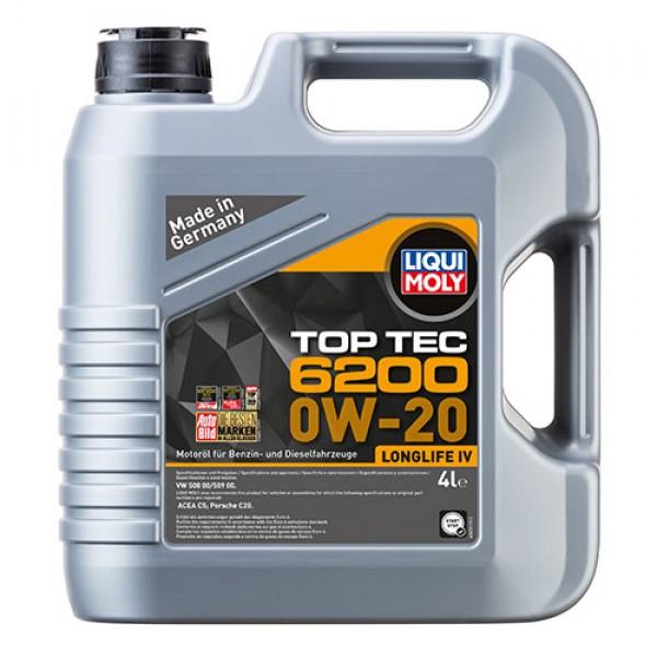 Синтетичне моторне масло - Liqui Moly Top Tec 6200 0W-20 4 л. 1