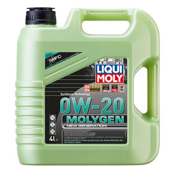 Синтетичне моторне масло - Molygen New Generation 0W-20 4 л. 1