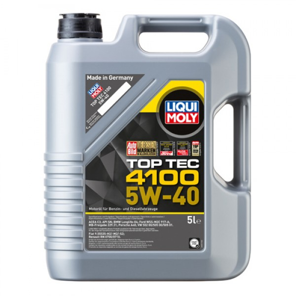 Синтетичне моторне масло - Top Tec 4100 SAE 5W-40 5 л. 1