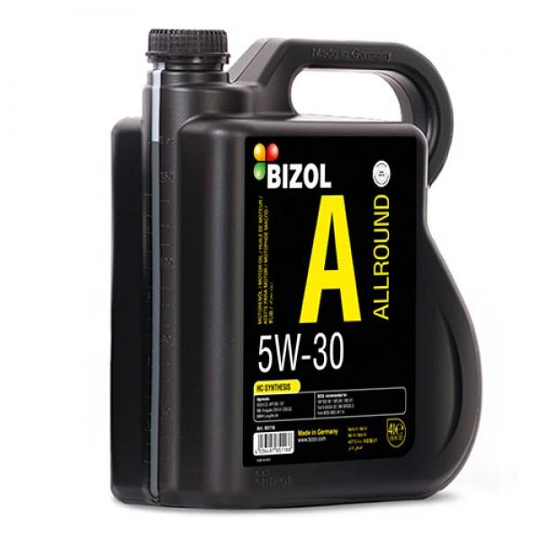 Синтетическое моторное масло - BIZOL Allround 5W-30 4л 1