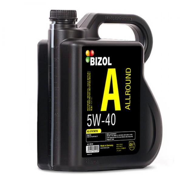 Синтетичне моторне масло - BIZOL Allround 5W-40 4л 1