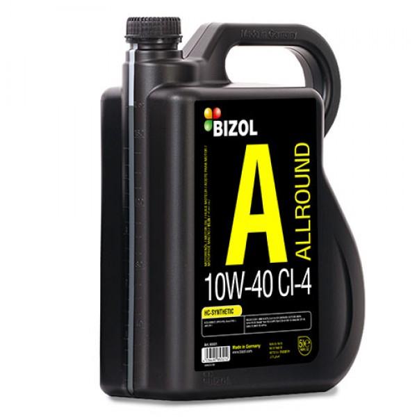 Напівсинтетичне моторне масло - BIZOL Allround 10W-40 CI-4 5л 1