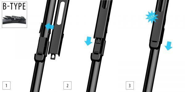 Щетки стеклоочистителя Модельные комплект 2 шт OXIMO WB450450 4