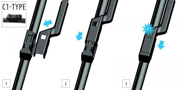 Щітки склоочисника Модельні комплект 2 шт OXIMO WC3505501 4