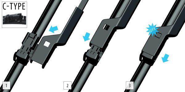 Щітки склоочисника Модельні комплект 2 шт OXIMO WC350525 4