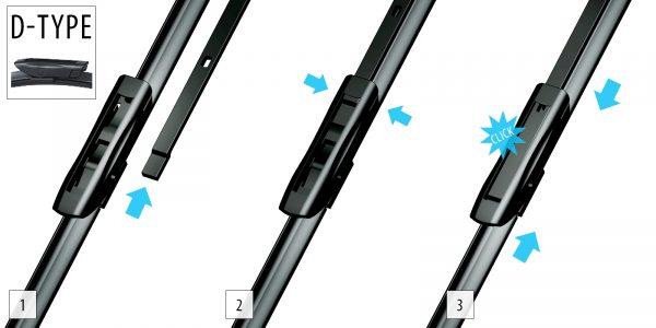 Щетки стеклоочистителя Модельные комплект 2 шт OXIMO WDP250350 5