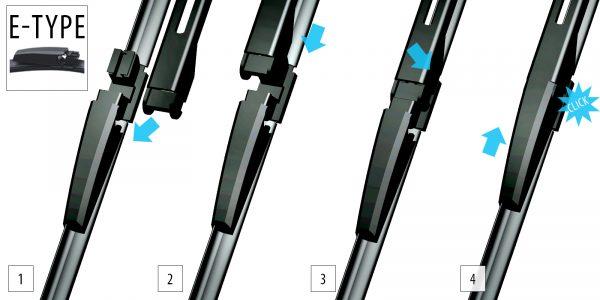 Щетки стеклоочистителя Модельные комплект 2 шт OXIMO WE450450 4