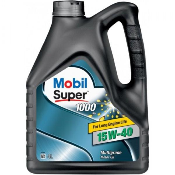 Мінеральне моторне масло Mobil Super 1000 15W-40 4 л 1