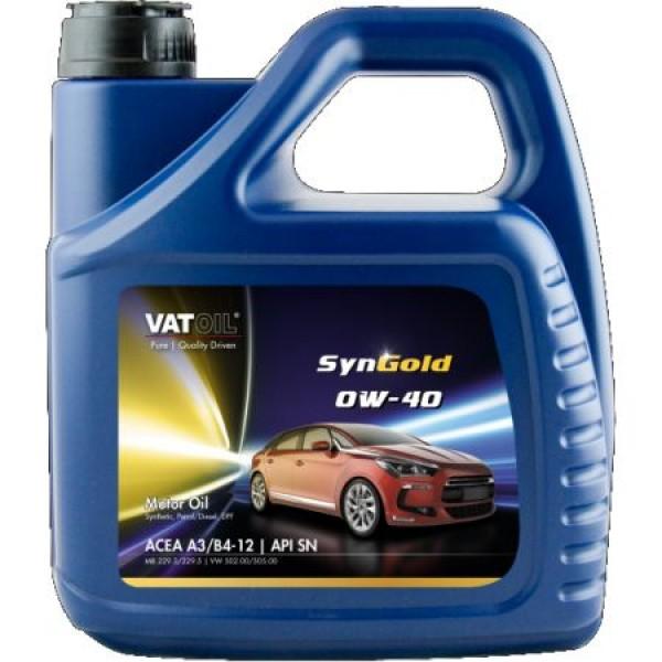 Синтетическое моторное масло VATOIL SYNGOLD PLUS 0W40 4Л 1
