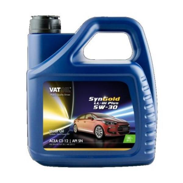 Синтетичне моторне масло VATOIL SYNGOLD LL-III PLUS 5W30 4Л 1