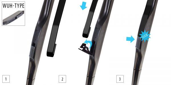 Щетка стеклоочистителя гибридная 650 mm OXIMO WUH650 5
