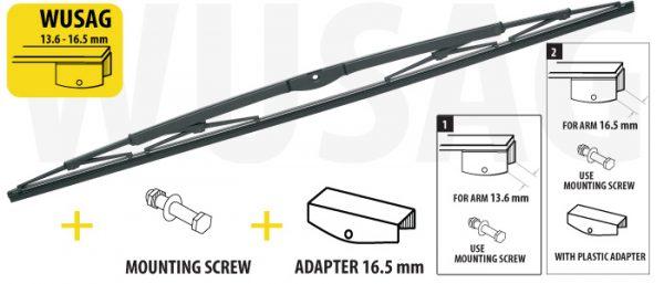 Щітка склоочисника для вантажних автомобілів та автобусів 600 mm OXIMO WUSAG613 7