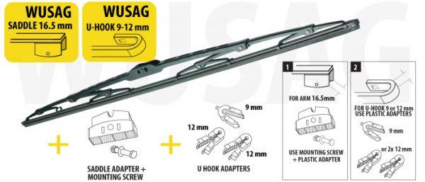 Щітка склоочисника для вантажних автомобілів та автобусів 550 mm OXIMO WUSAG550 5