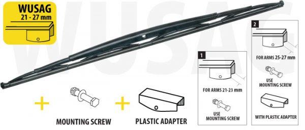 Щетка стеклоочистителя для грузовых автомобилей и автобусов 900 mm OXIMO WUSAG900 5