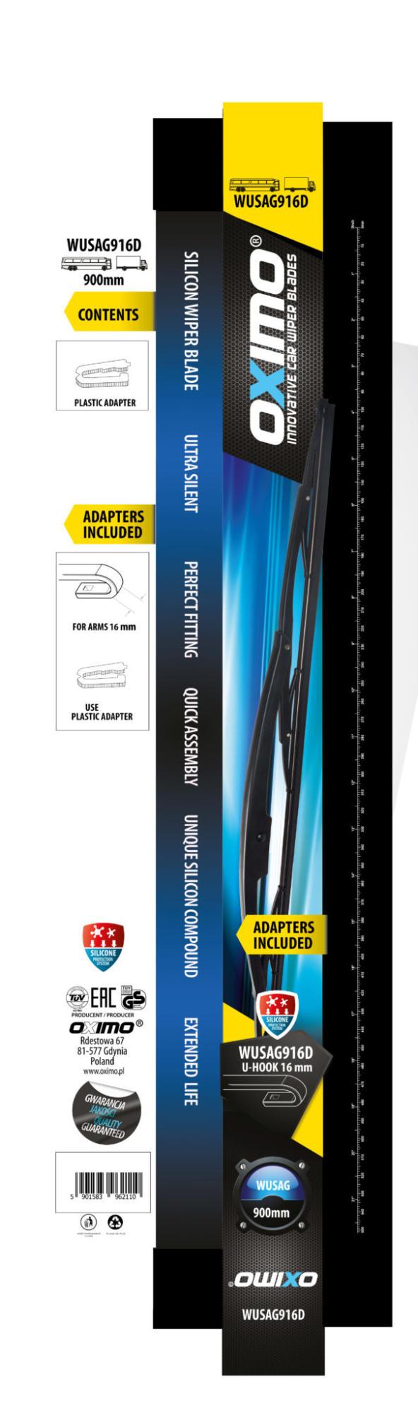 Щітка склоочисника для вантажних автомобілів та автобусів 550 mm OXIMO WUSAG550 4
