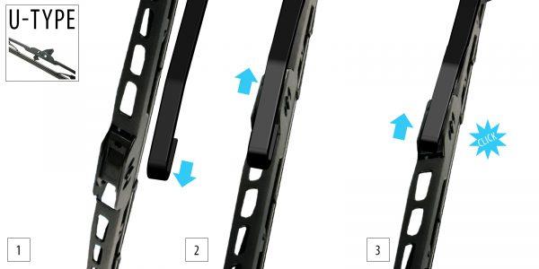 Щітка склоочисника каркасна 425 mm OXIMO WUS425 5